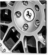 1997 Ferrari F 355 Spider Wheel Emblem -125bw Canvas Print