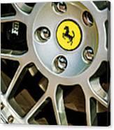 1997 Ferrari F 355 Spider Wheel Emblem -125c Canvas Print