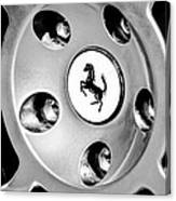 1997 Ferrari F 355 Spider Wheel Emblem -201bw Canvas Print