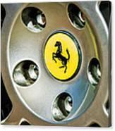 1997 Ferrari F 355 Spider Wheel Emblem -201c Canvas Print