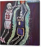 1997 Kobe Vs Jordan Canvas Print
