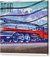 1999 Hiawatha Train Stamp Canvas Print