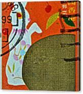 1999 Hong Kong Lunar New Year Stamp Canvas Print