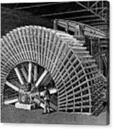 19th C Egyptian Hydraulic Factory Canvas Print