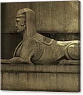 19th Century Granite Stone Sphinx Sepia Profile Poster Look Usa Canvas Print