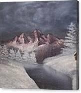 1st Painting 2-27-1991 Canvas Print