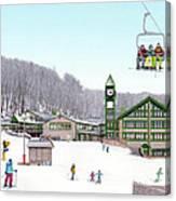 1st Snow At Hidden Valley Canvas Print