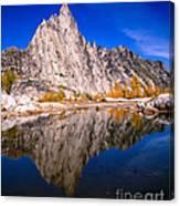 Prusik Peak On Gnome Tarn Canvas Print