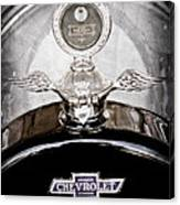 1915 Chevrolet Touring Hood Ornament - Moto Meter Canvas Print