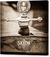 1915 Saxon Roadster Hood Ornament Canvas Print