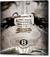 1925 Bentley 3-liter 100mph Supersports Brooklands Two-seater Radiator Cap Canvas Print