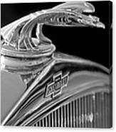 1931 Chevrolet Hood Ornament Canvas Print