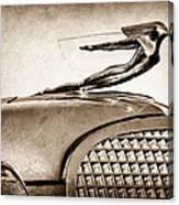 1937 Cadillac V8 Hood Ornament Canvas Print