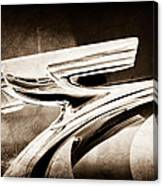 1937 Chevrolet 2 Door Sedan Hood Ornament Canvas Print