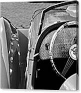 1937 Peugeot 402 Darl'mat Legere Speacial Sport Roadster Recreation Steering Wheel Emblem Canvas Print