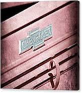 1938 Chevrolet Pickup Truck Emblem Canvas Print