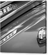 1949 Ford F-1 Pickup Truck Emblem -0027bw Canvas Print
