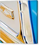 1953 Chevrolet Belair Convertible Emblem Canvas Print