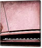 1953 Studebaker Coupe Grille Emblem Canvas Print