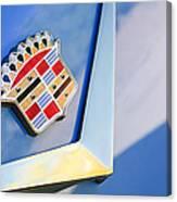 1954 Cadillac Coupe Deville Emblem Canvas Print