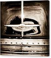1954 Chevrolet Deluxe Grille Emblem Canvas Print
