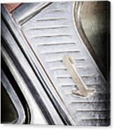 1955 Lincoln Capri Emblem Canvas Print