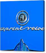 1956 Alfa Romeo Sprint Veloce Coupe Emblem Canvas Print