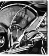 1956 Chevrolet Belair Steering Wheel Canvas Print
