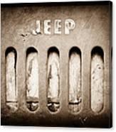 1957 Jeep Emblem Canvas Print