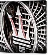 1957 Maserati Grille Emblem Canvas Print