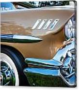 1958 Chevrolet Bel Air Impala Painted  Canvas Print