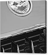 1958 Chevrolet Corvette Hood Emblem Canvas Print