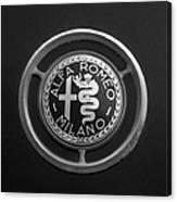 1961 Alfa Romeo Giulietta Sprint Veloce Series II Emblem -1045bw Canvas Print