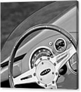 1959 Devin Ss Steering Wheel Canvas Print