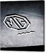 1959 Mg A 1600 Roadster Emblem Canvas Print