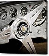 1960 Maserati Steering Wheel Emblem Canvas Print