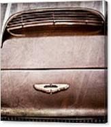1961 Aston Martin Db4 Coupe Emblem Canvas Print