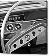 1961 Chevrolet Impala Ss Steering Wheel Emblem Canvas Print