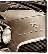 1962 Chevrolet Corvette Hood Emblems Canvas Print