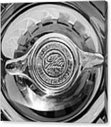 1962 Ghia L6.4 Coupe Wheel Emblem -2169bw Canvas Print