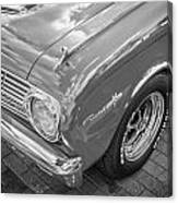 1963 Ford Falcon Sprint Convertible Bw  Canvas Print