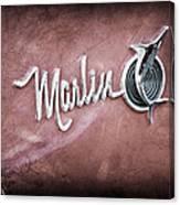 1965 Rambler Marlin Emblem Canvas Print