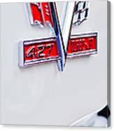 1966 Chevrolet Biscayne Emblem Canvas Print