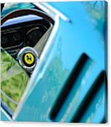 1966 Ferrari 275 Gtb Steering Wheel Emblem Canvas Print