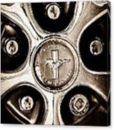 1966 Ford Mustang Gt Wheel Emblem Canvas Print