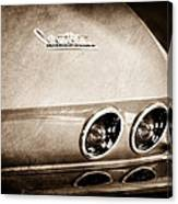 1967 Chevrolet Corvette Taillight Canvas Print