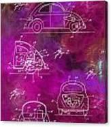 1968 Vw Patent Drawing Canvas Print