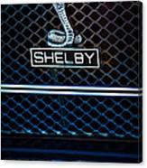1969 Shelby Gt500 Convertible 428 Cobra Jet Grille Emblem Canvas Print