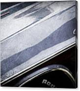1970 Dodge Challenger Rt Convertible Emblems Canvas Print