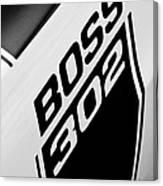 1970 Ford Mustang Boss 302 Emblem Canvas Print